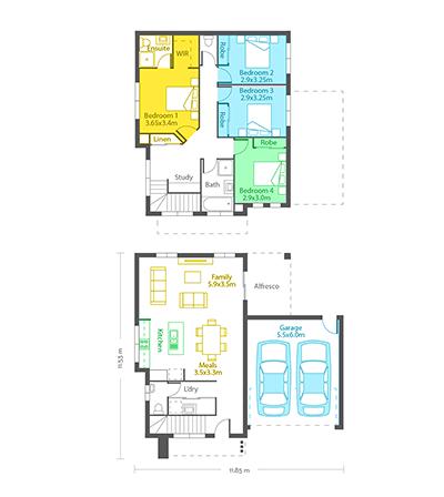 Florence 22 floor plans