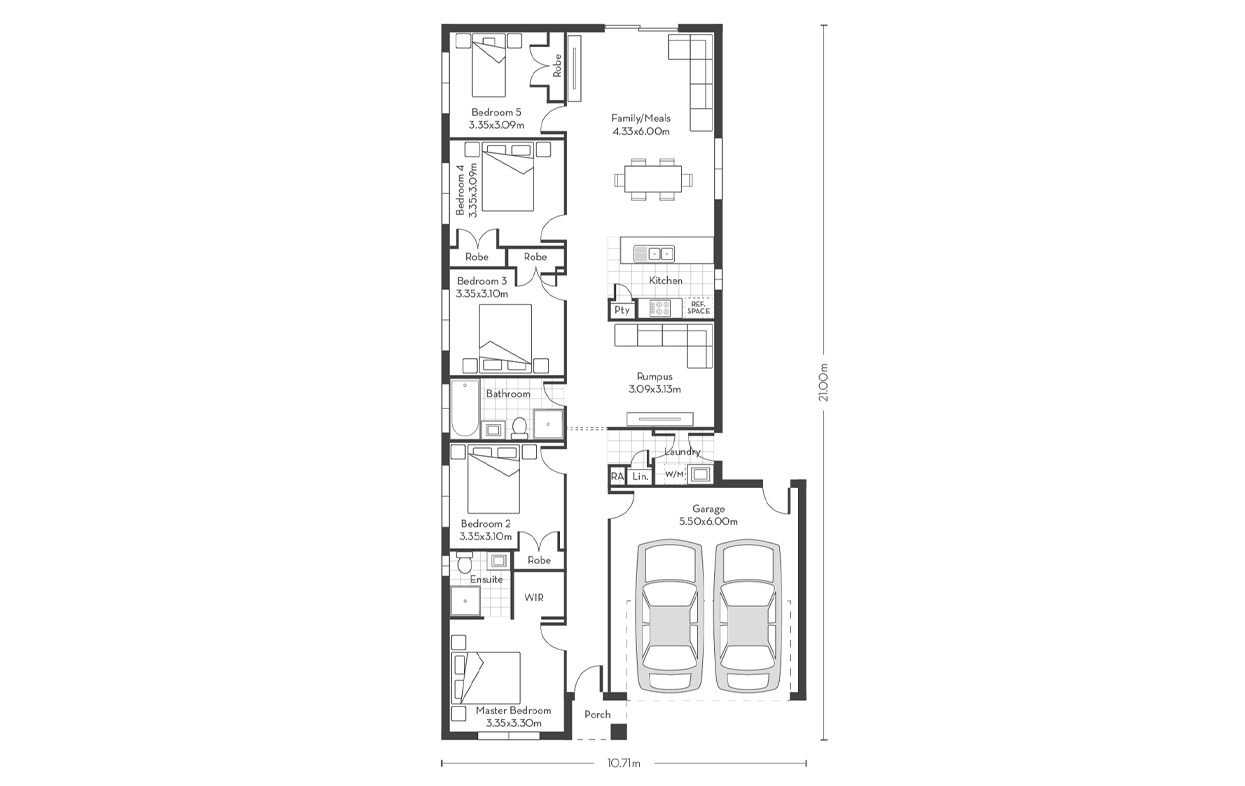 Invest 20 (5 bed) Floor Plans