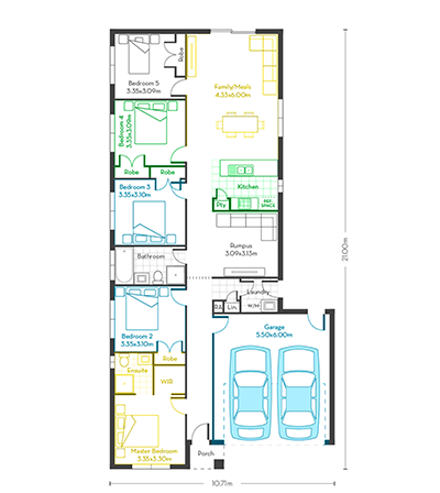 Invest 20 (5 bed) floor plans vg