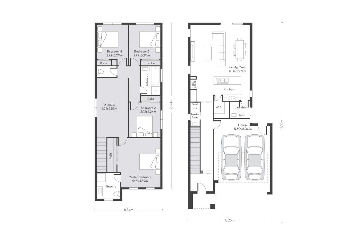 Rome 24 (D) floor plans