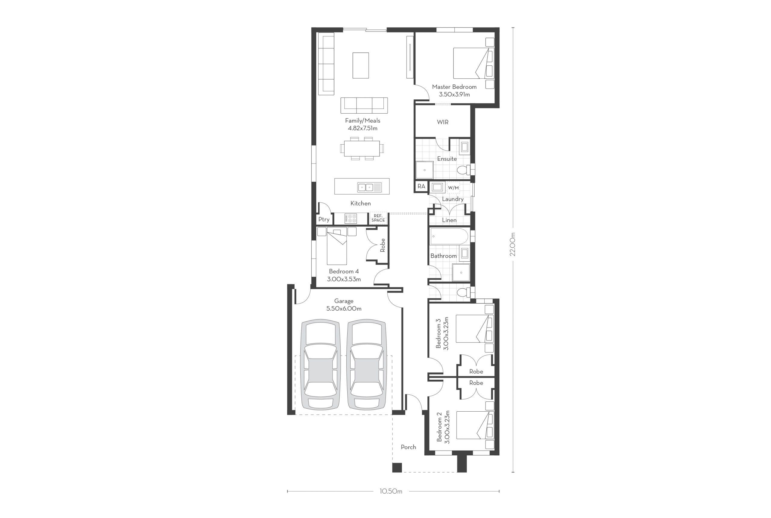 Monterey 20 – 4 Bed Floor Plans