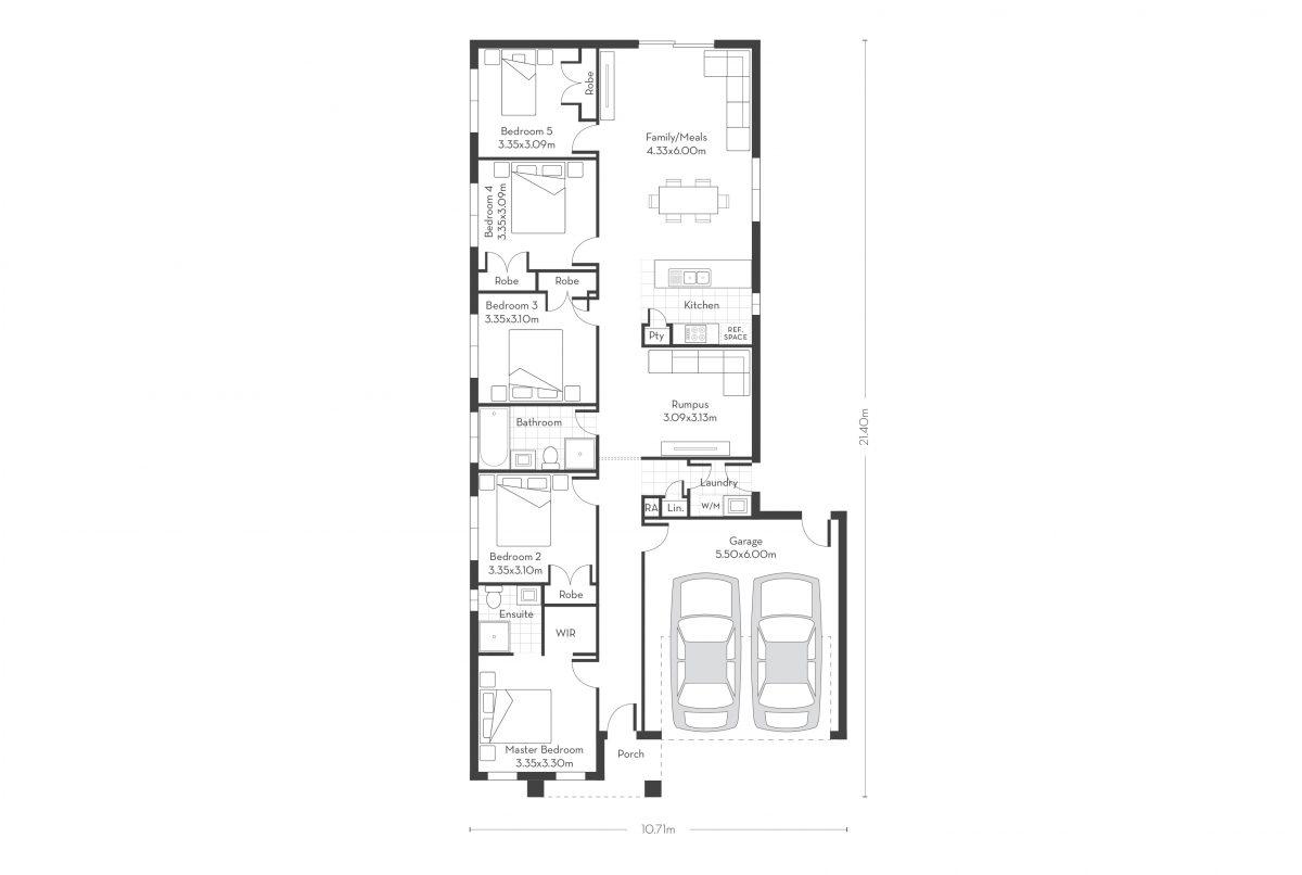 Rosemont 20 - 5 Bed floor plans