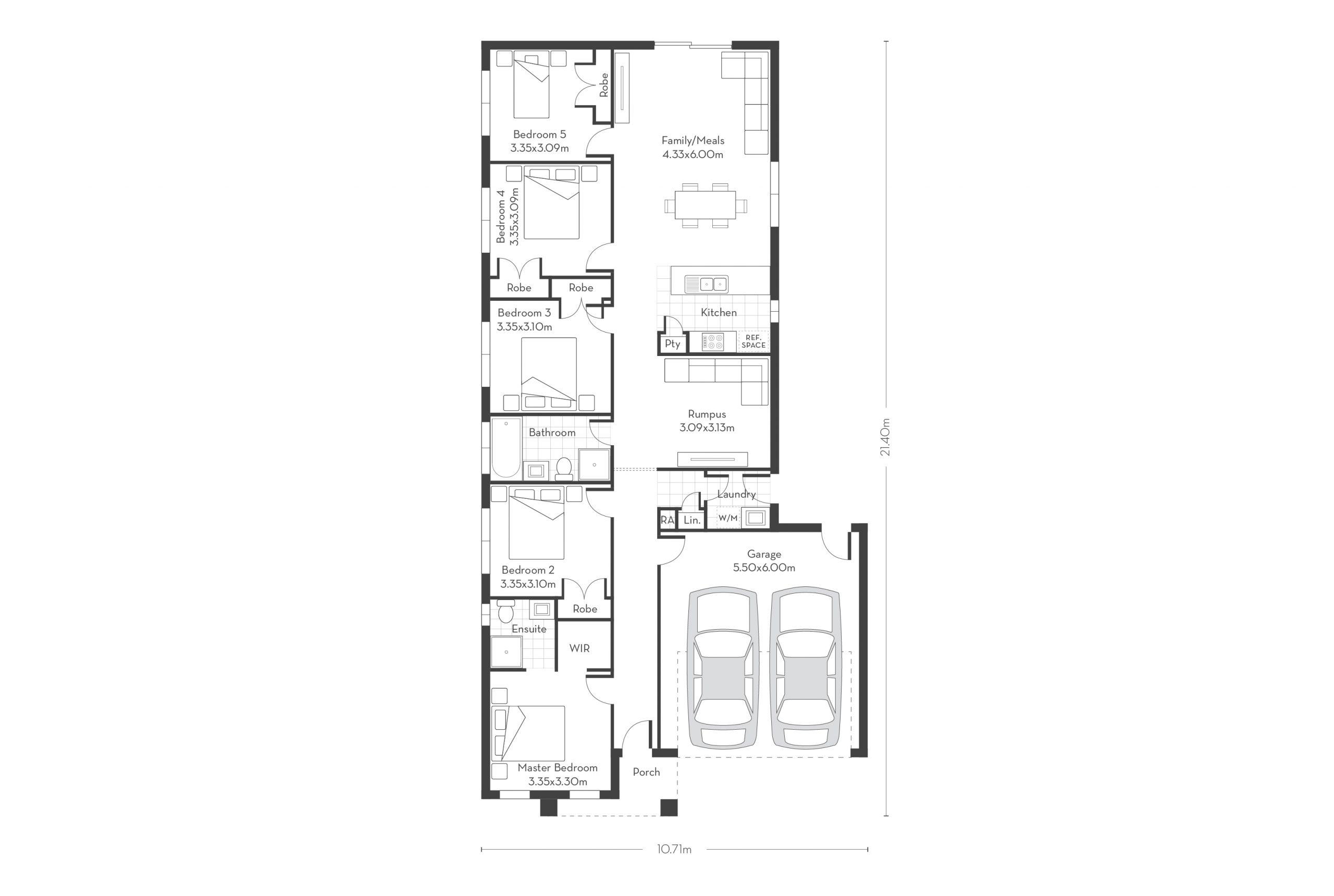 Rosemont 20 – 5 Bed Floor Plans
