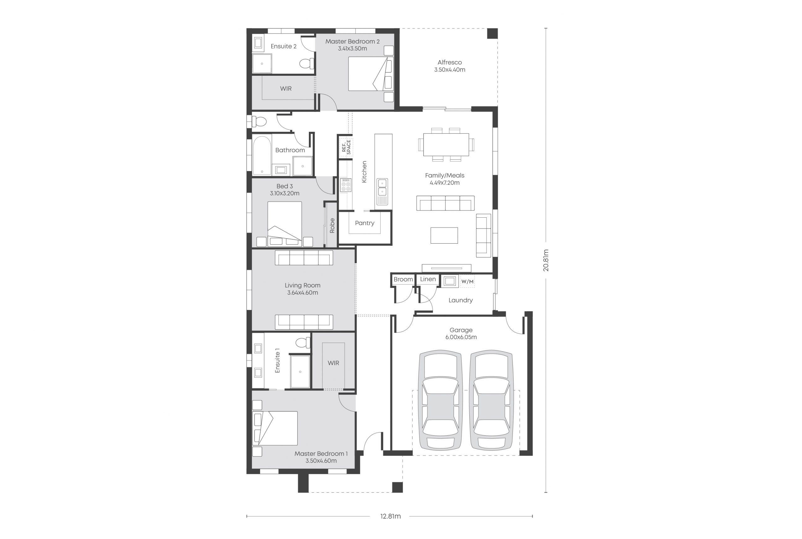Chicago 25.5 – 2 Ensuites Floor Plans