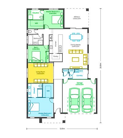 Chicago 25.5 - 2 Ensuites floor plans